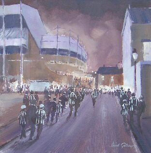 Bridges,  origial  football painting, Dick Gilhespy