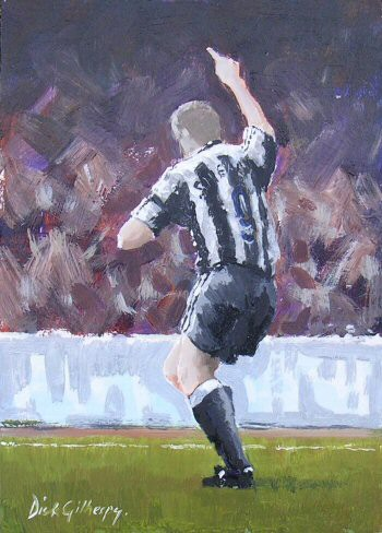 One more,  original  football painting, Dick Gilhespy