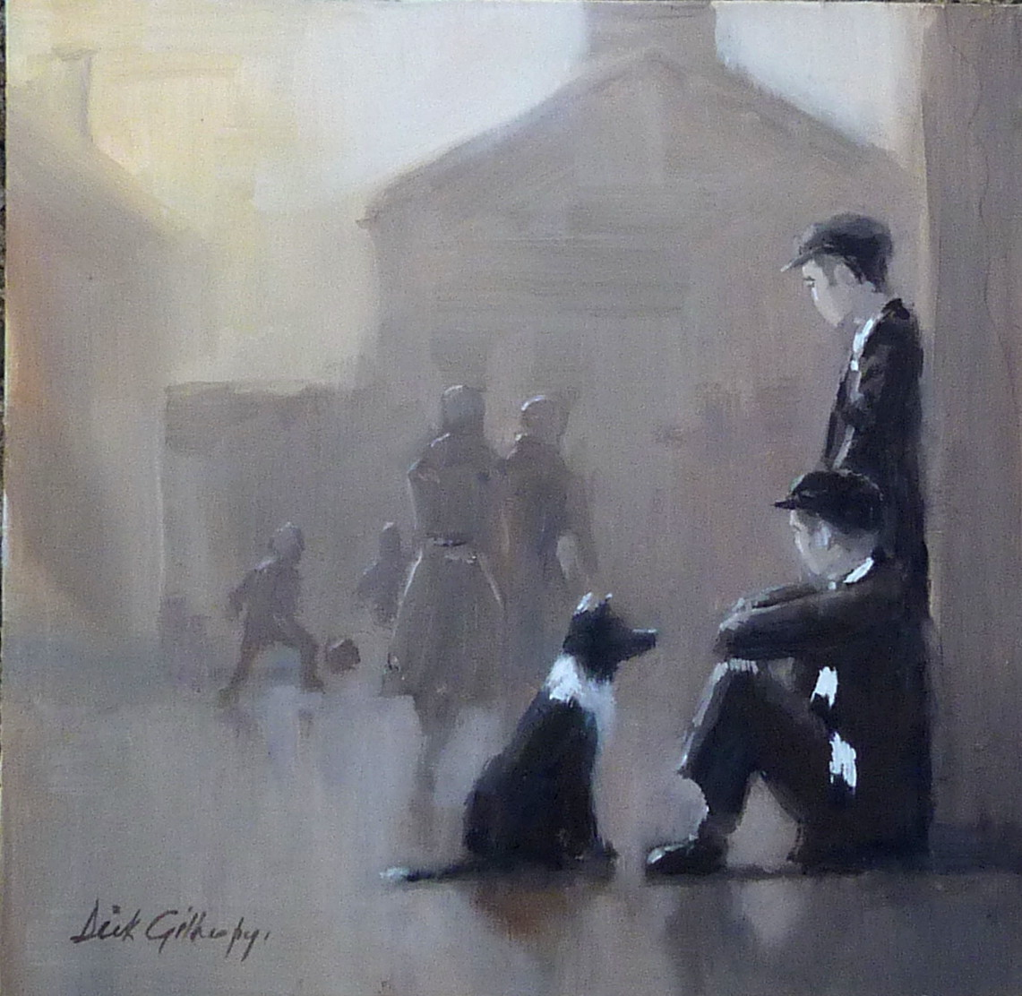 Talent spotting,  original painting by Dick Gilhespy