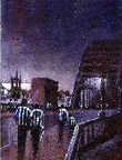 Toon Bridge:NUFC supporters painting by Dick Gilhespy